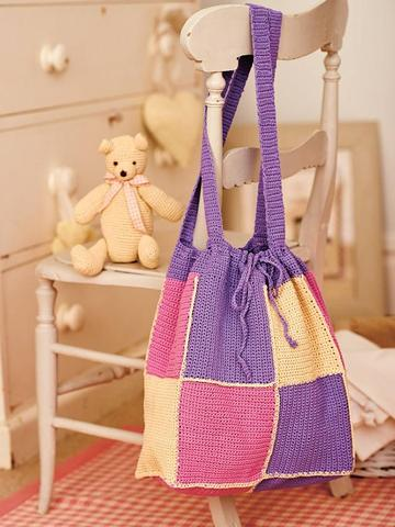 Baby Teddy Bear, Blanket And Bag Crochet Patterns