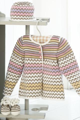 Baby Candy Coat Set Knitting Patterns