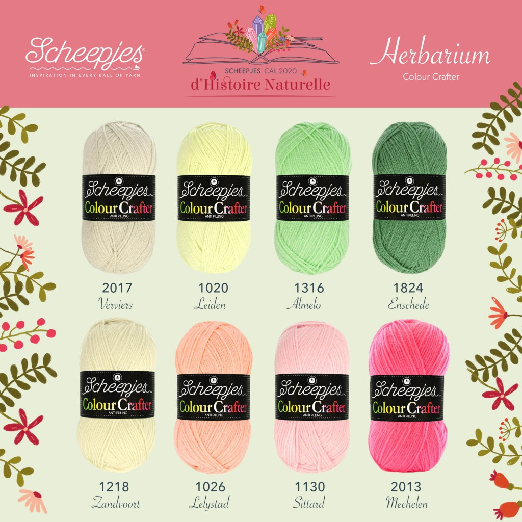 Scheepjes CAL 2020 d'Histoire Naturelle Colour Crafter Colour Pack - Herbarium
