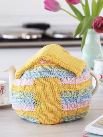 Beach Hut Tea Cosy Knitting Pattern