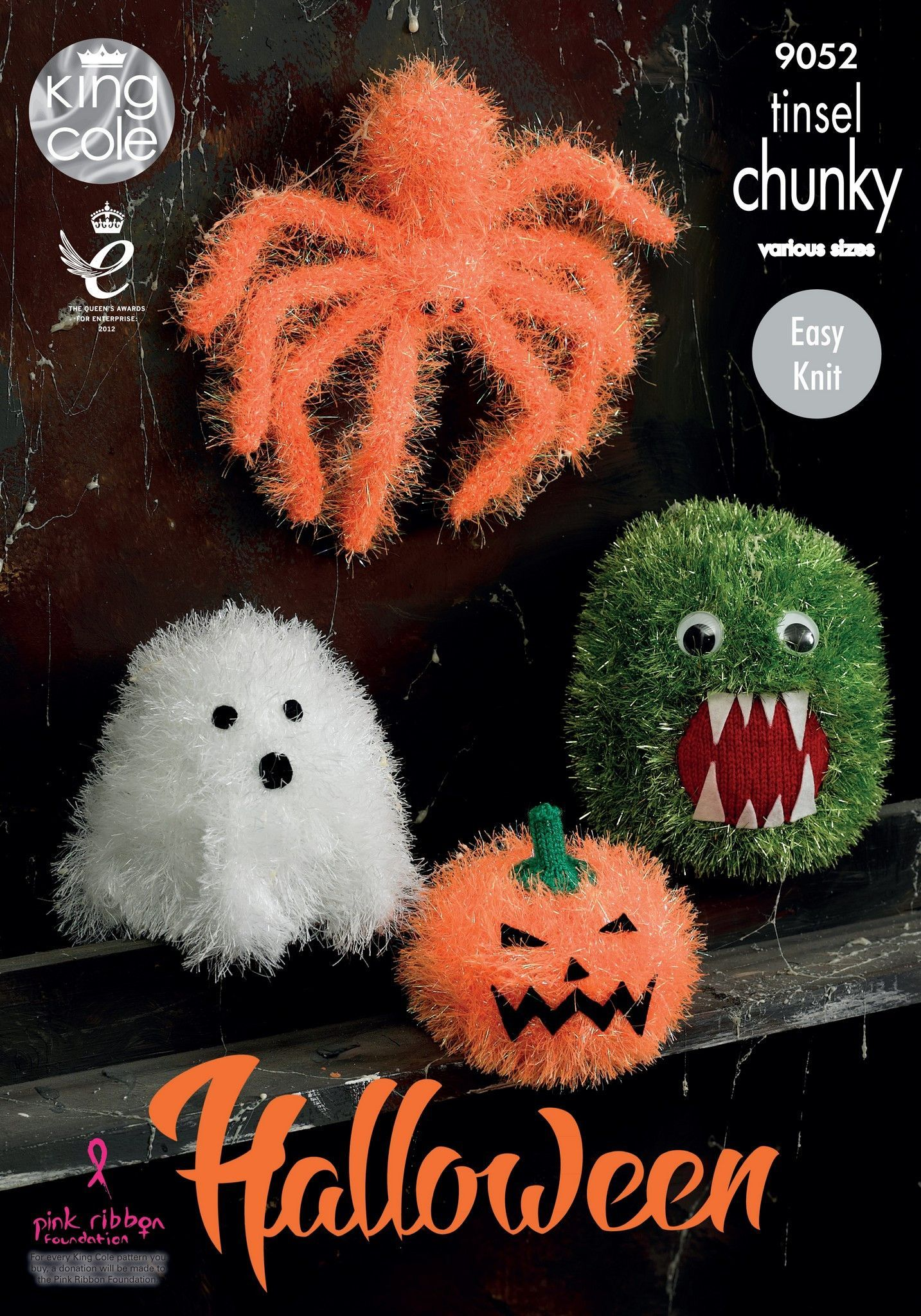 Halloween Monsters in King Cole Tinsel Chunky and Dollymix DK