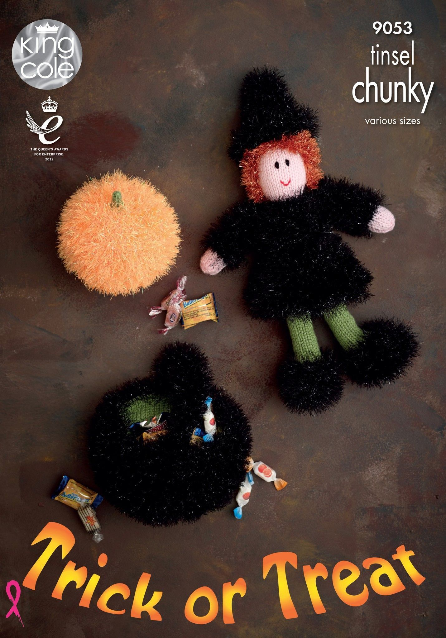 Halloween Characters in King Cole Tinsel Chunky