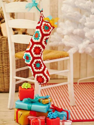 Christmas stocking to crochet