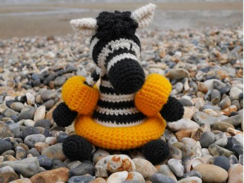 Crochet zebra toy by Kerry Lord