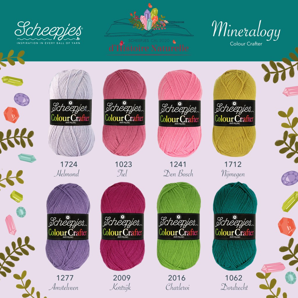 Scheepjes CAL 2020 d'Histoire Naturelle Colour Crafter Colour Pack - Mineralogy