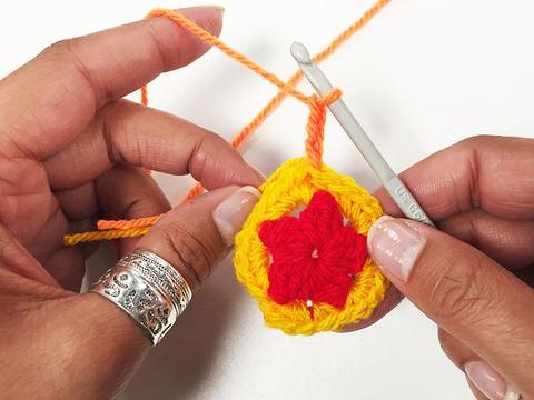 3ch crochet flower