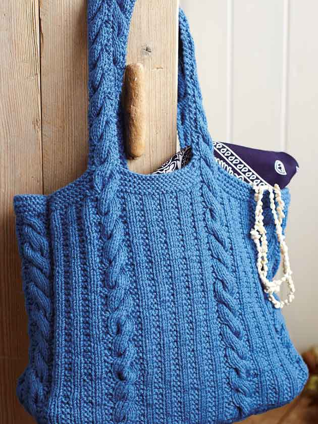 Rib and cable knit knitting pattern