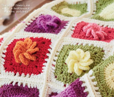 Flower crochet motif