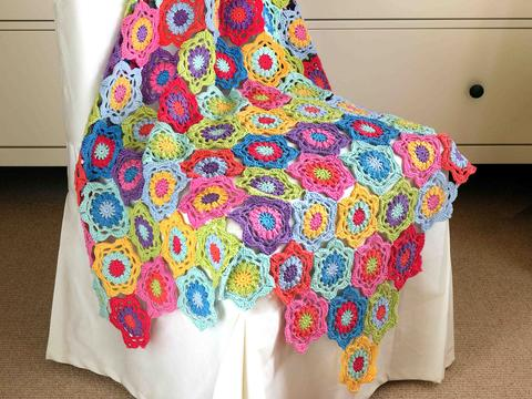 technicolour floral blanket