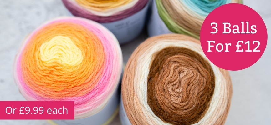 Sirdar Snuggly Pattercake - 3 for £12