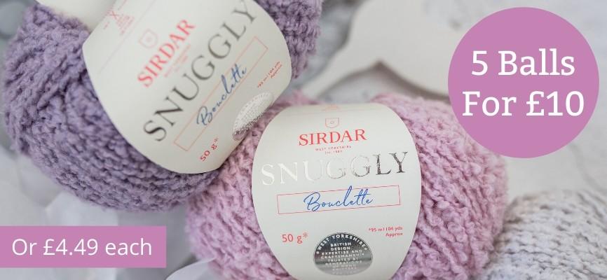 Sirdar Snuggly Bouclette - 5 for £10