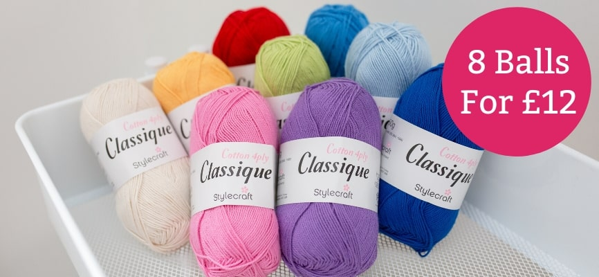Stylecraft Classique Cotton 4 Ply - £12 for 8