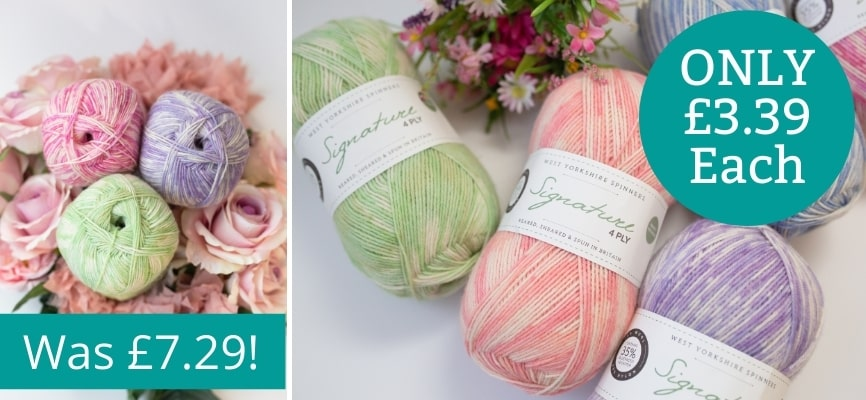 West Yorkshire Spinners Signature Florist 4 Ply - Only £3.39