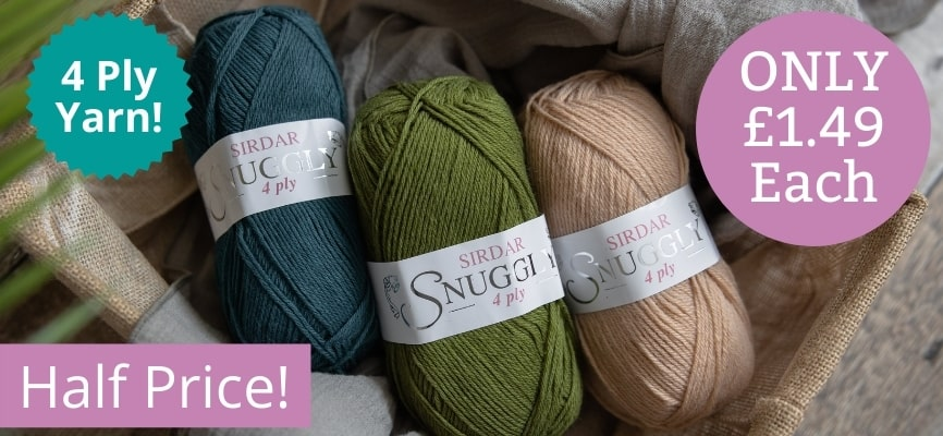 Sirdar Snuggly 4 Ply - Only £1.49