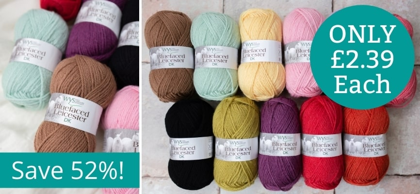 West Yorkshire Spinners Bluefaced Leicester DK - Only £2.39