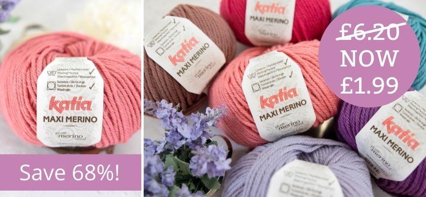 Katia Maxi Merino - £1.99 Each