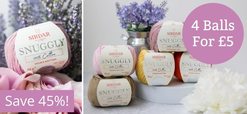 Sirdar Snuggly 100% Cotton - 4 for £5