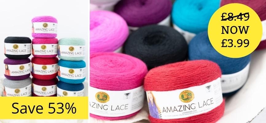 Lion Brand Amazing Lace - £3.99 Each