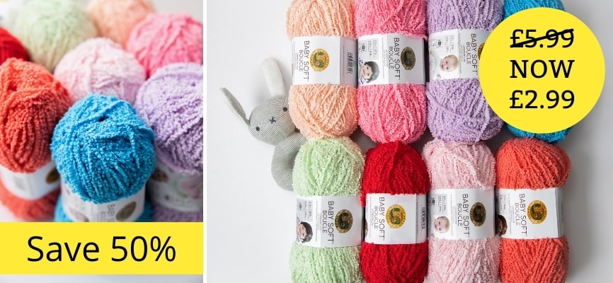 Lion Brand Baby Soft Boucle - £2.99 Each