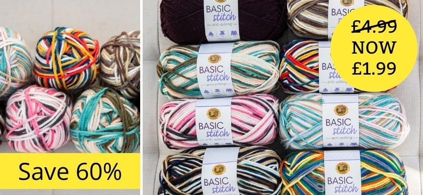 Lion Brand Basic Stitch Anti-Pilling Solids - Only £1.99