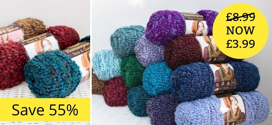 Lion Brand Homespun Thick & Quick - Only £3.99
