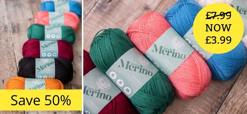 Lion Brand Touch Of Merino - £3.99 Each