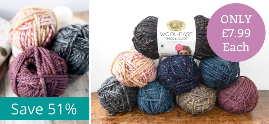 Lion Brand Wool Ease Thick And Quick Prints And Stripes - £7.99 Per Ball