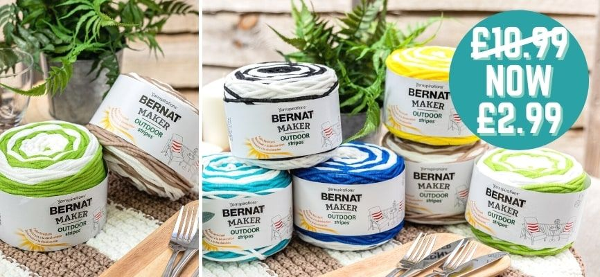 Bernat Maker Outdoor Stripes - Only £2.99
