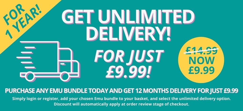 Unlimited Delivery For £9.99