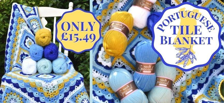 Portuguese Tile Blanket - £15.49