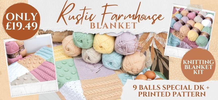 Rustic Farmhouse Blanket - Only £19.49