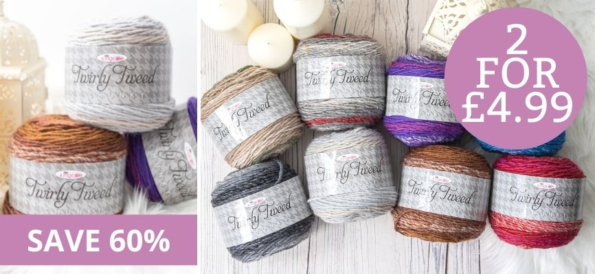 King Cole Twirly Tweed - 2 For £4.99