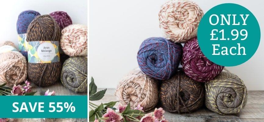 Woolcraft Aran Melange - Only £1.99