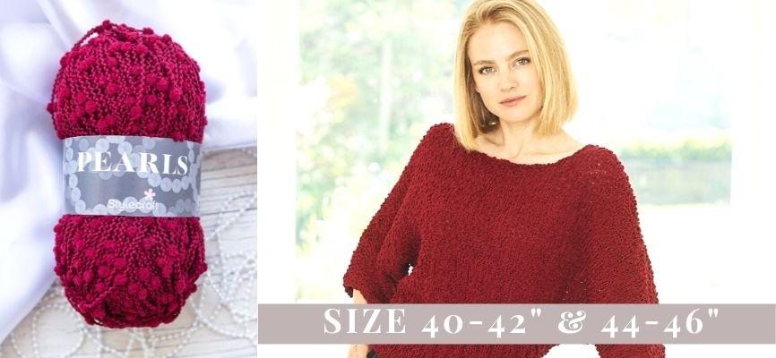 Stylecraft Pearls Sweater Kit - 40-42
