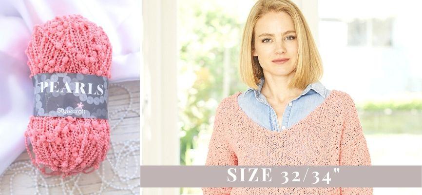 Stylecraft Pearls Boat Sweater Kit - 32-24