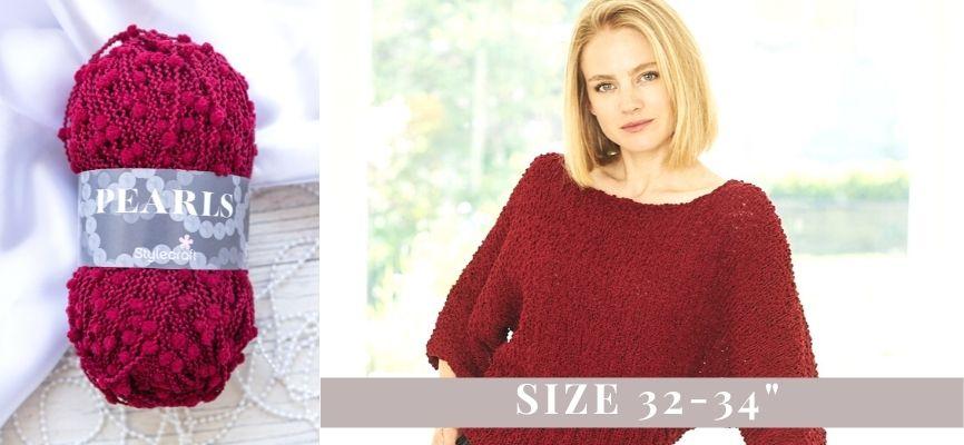 Stylecraft Pearls Sweater Kit - 32-24