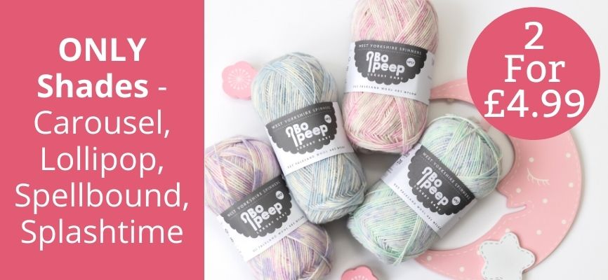 West Yorkshire Spinners Bo Peep 4 Ply - 2 For £4.99
