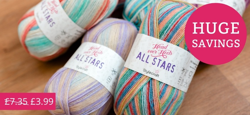Stylecraft Head Over Heels All Stars - £3.99!
