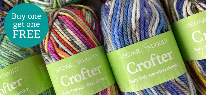 Sirdar Snuggly Baby Crofter Chunky - Buy One Get One Free
