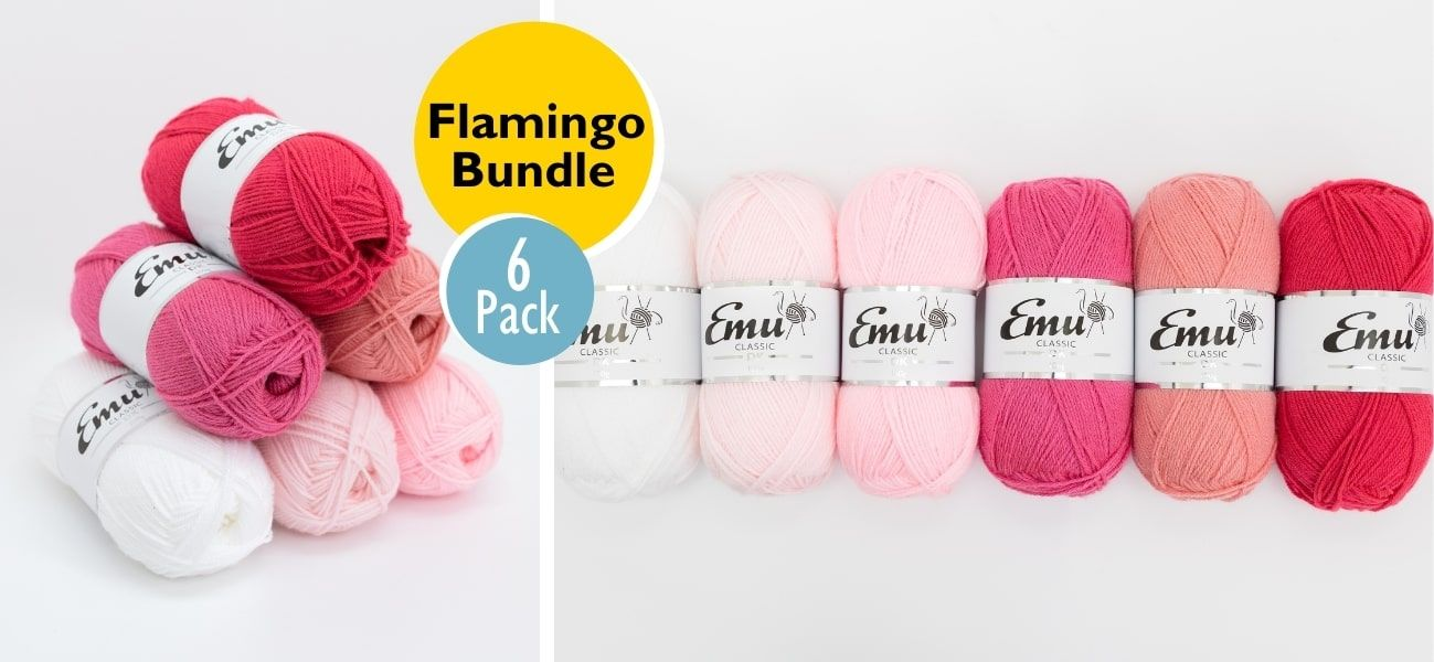 Emu Classic DK Flamingo 6 Balls