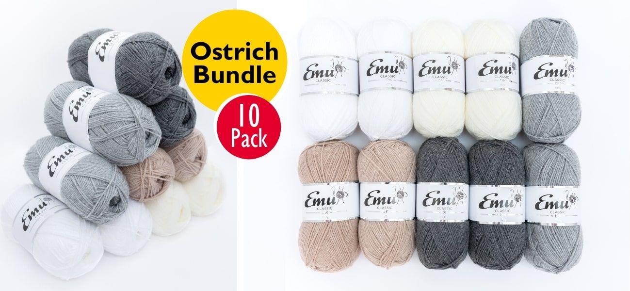 Emu Classic DK Ostrich Bundle 10 Ball