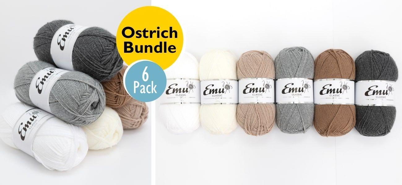 Emu Classic DK Ostrich Bundle 6 Ball