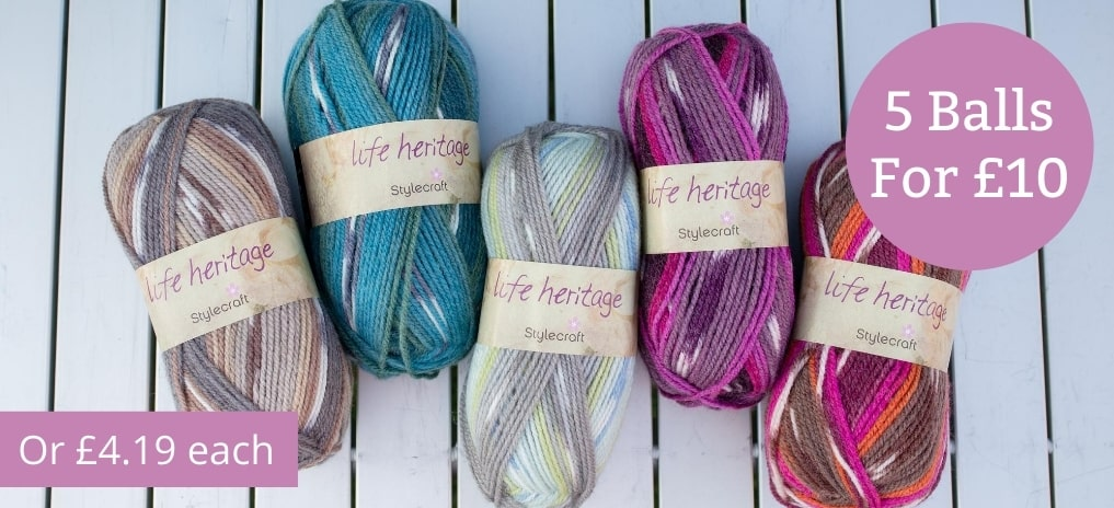 Stylecraft Life Heritage - 5 for £10