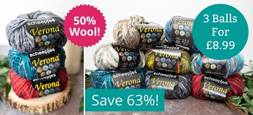 Scheepjes Verona - 3 for £8.99