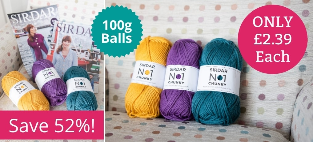 Sirdar No 1 Chunky - Only £2.39