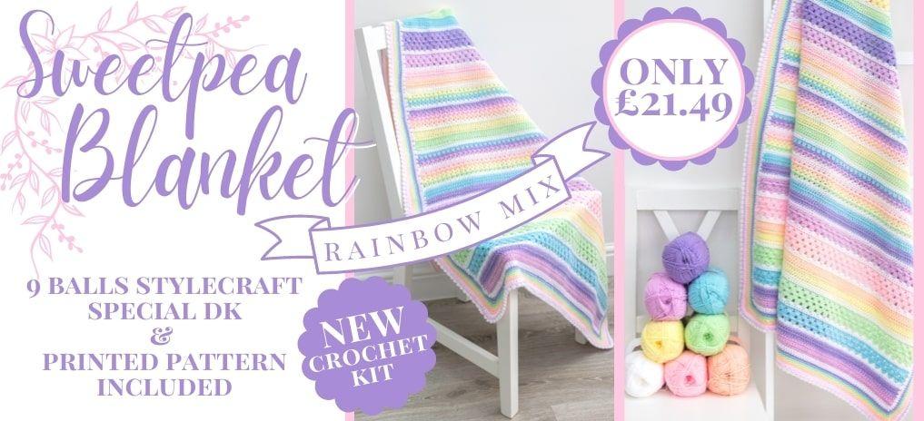 Sweetpea Rainbow Mix Blanket - Only £21.49