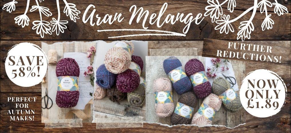 Woolcraft Aran Melange - Now £1.89