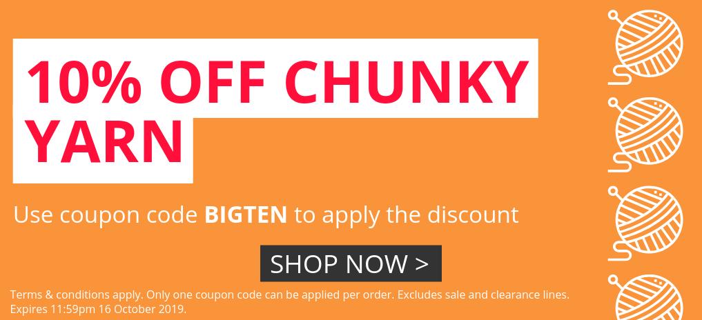 10% Off Chunky Yarn