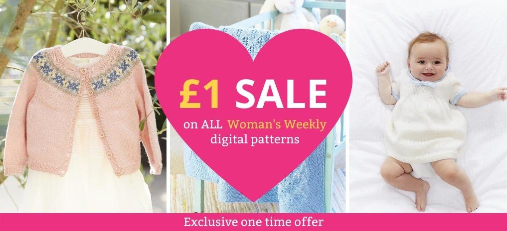 £1 sale on ALL Women's Weekly digital patterns